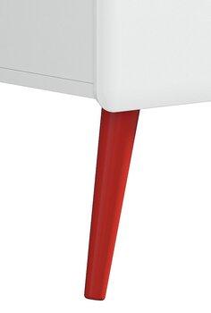 Kājas mēbelēm 4 gab, sarkanas
