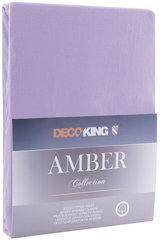 DecoKing trikotāžas Amber Violet palags ar gumiju, 160x200 cm