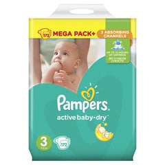Подгузники Pampers Mega Box, 5-9 кг, 172 шт. цена и информация | Подгузники и аксесуары | 220.lv