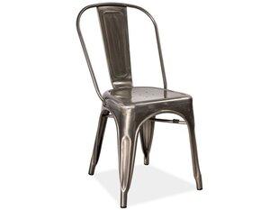 Krēslu komplekts Loft, slīpēts tērauds (4 gab.)