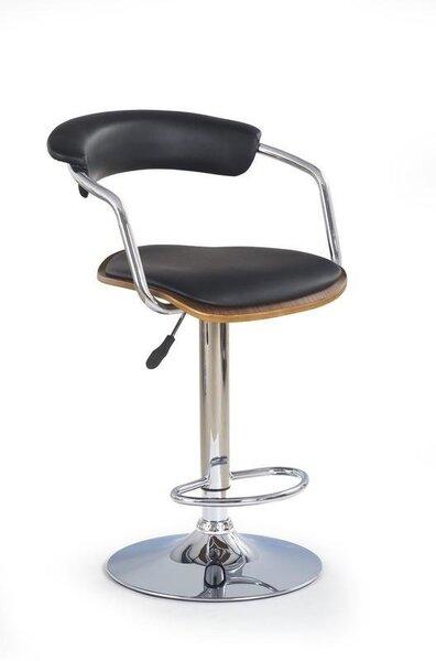 Bāra krēsls (2 gab.) H 19, riekstskoks/melna