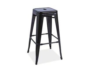 Комплект из 4 барных стульев Long, чёрный