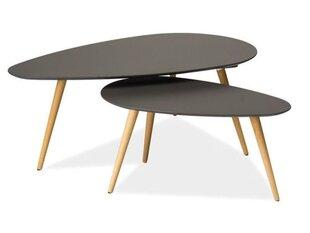 2 galdu komplekts Nolan B, pelēks/buks