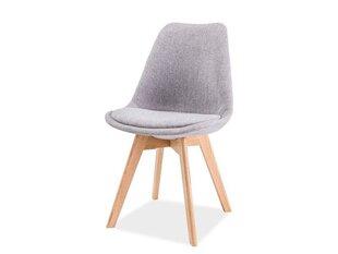 Комплект из 4 стульев Dior, светло-серый/дуб