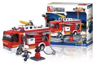 Конструктор - пожарная машина 343 частей, SLUBAN цена и информация | Конструкторы | 220.lv