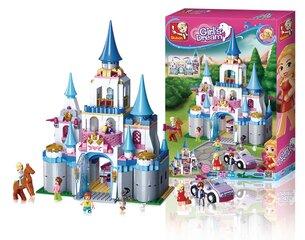 Konstruktors pils, 818 daļas Sluban Girl's Dream Castle M38-B0610
