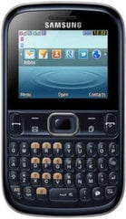 Samsung S3330 ch@t ENG, Melns