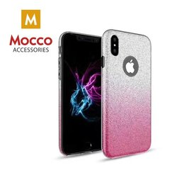 Mocco Gradient Back Case Silicone maciņš priekš Apple iPhone X Balts - Rozā