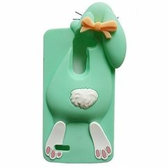 Mocco 3D Silikone Back Case For Mobile Phone BUNNY Huawei P9 / P9 Lite Mint