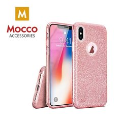 Mocco Gradient Back Case Silicone Case With Glittering For Apple iPhone X Pink