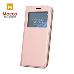 Mocco Smart Look Magnet Book Case With Window For Huawei P10 Plus Rose Gold