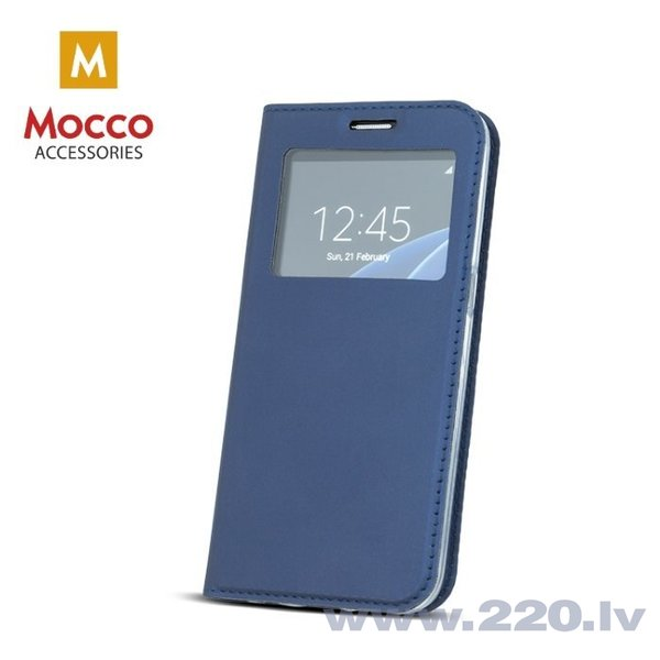 Mocco Smart Look Magnet Book Case With Window For Huawei P10 Plus Blue