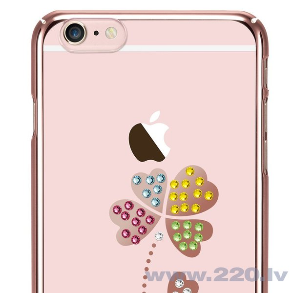 X-Fitted Plastic Case With Swarovski Crystals for Apple iPhone 6 / 6S Rose gold / Lucky Clover cena