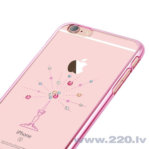 X-Fitted Plastic Case With Swarovski Crystals for Apple iPhone 6 / 6S Pink / Starry Sky internetā