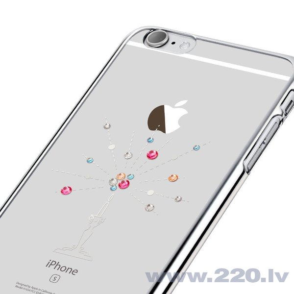 X-Fitted Plastic Case With Swarovski Crystals for Apple iPhone 6 / 6S Silver / Starry Sky internetā
