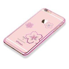 X-Fitted Plastic Case With Swarovski Crystals for Apple iPhone 6 / 6S Pink / Blossoming cena un informācija | Maciņi, somiņas | 220.lv