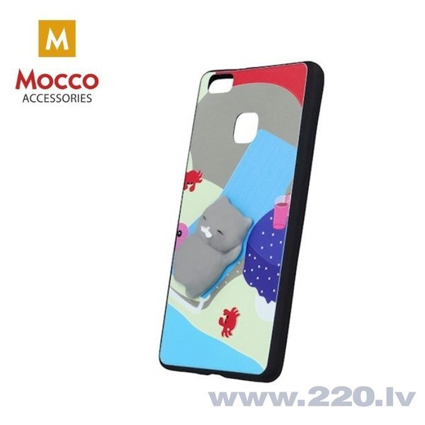 Mocco 4D Silikone Back Case For Mobile Phone With Grey Cat For Huawei P10 Lite cena