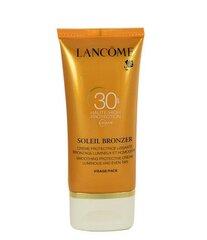 Aizsargājošs sejas krēms Lancome Soleil Bronzer SPF30 50 ml cena un informācija | Sauļošanas, solāriju krēmi | 220.lv