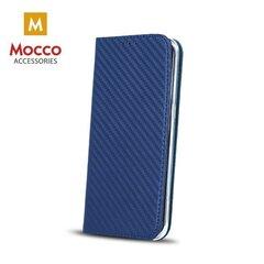 Mocco Smart Carbon Book Case For Apple iPhone 6 / 6S Blue cena un informācija | Maciņi, somiņas | 220.lv