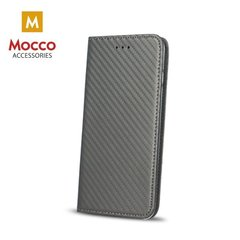 Mocco Smart Carbon Book Case For Huawei P10 Plus Grey