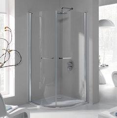 Stūra dušas kabīne Sanplast Prestige III KP2/PR III 80s, profils pergamon