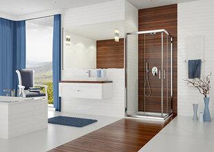 Stūra dušas kabīne Sanplast TX KN/TX5b 80x100s, spīdīgs sudraba profils, caurspīdīgs stikls W0