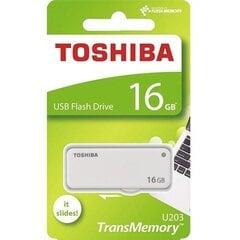 Atmiņas karteToshiba U203, 16GB USB 2.0, balta