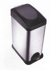 Atkritumu tvertne ar pedāli, 15 L cena un informācija | Vannas istabas aksesuāri | 220.lv
