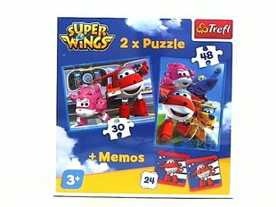 Пазл Step Puzzle Super Wings (2 in 1 + мемо) цена и информация | Пазлы, 3D пазлы | 220.lv