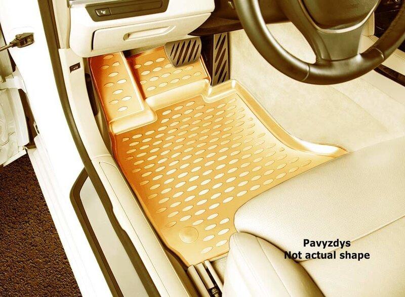 3D SEAT Leon 2005-2012, 4 pcs. /L55004B /beige internetā