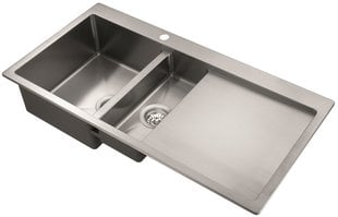 Nerūsējošā tērauda virtuves izlietne Luna LUN 151M-L