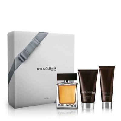 Komplekts Dolce & Gabbana The One: edt 100 ml + pēc skūšanas balzāms 75 ml + dušas želeja 50 ml