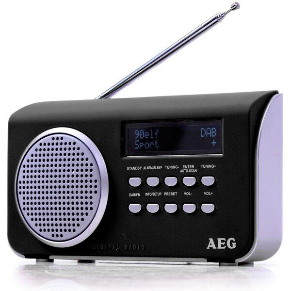 Radijo žadintuvas AEG DAB 4130, juoda