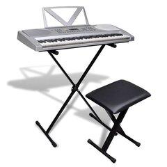 61 Taustiņa sintezators ar statīvu un krēslu cena un informācija | Taustiņinstrumenti | 220.lv