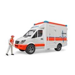Ātrās palīdzības automašīna ar figūriņu Bruder, 02536 cena un informācija | Ātrās palīdzības automašīna ar figūriņu Bruder, 02536 | 220.lv