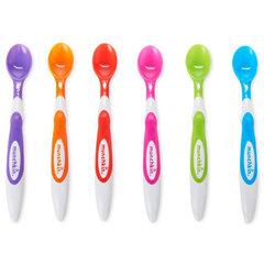 Barošanas karotes bērniem Munchkin Soft Tip Spoons, 6 gab.