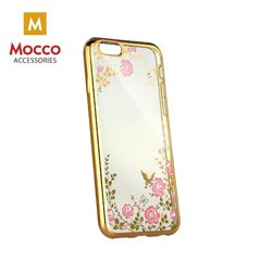 Mocco Electro Diamond Silicone Case for Samsung A730 Galaxy A8 Plus (2018) Gold - Transparent