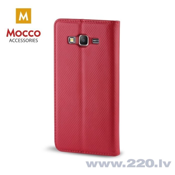 Mocco Smart Magnet Book Case For Samsung A730 Galaxy A8 Plus (2018) Red internetā