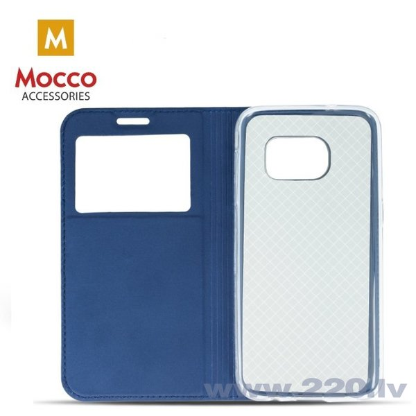 Mocco Smart Look Magnet Book Case With Window For Huawei P10 Lite Blue internetā