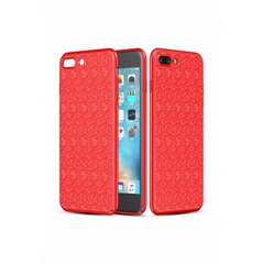 Baseus Plaid Case Impact Silicone Case for Apple iPhone 7 / 8 Red