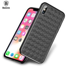 Baseus Weaving Case Impact Silicone Case for Apple iPhone X Black
