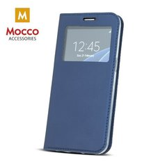 Mocco Smart Look Magnet Book Case With Window For Apple iPhone 5 / 5S / SE Blue