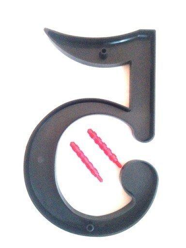 """Dzīvokļa/mājas durvju numurs """"9"""", 180mm"""