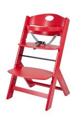 Деревянный стул для кормления BabyGo Family, красный