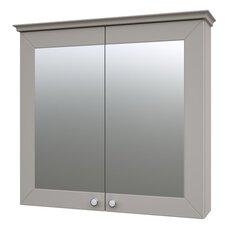 Skapis ar spoguli 79 cm, pelēks