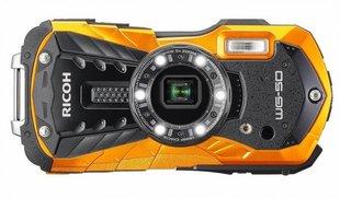Ricoh WG-50, Oranžs cena un informācija | Digitālās fotokameras | 220.lv