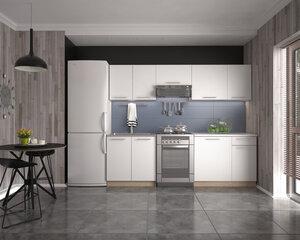 Virtuves skapju komplekts Daria, balts cena un informācija | Virtuves skapju komplekts Daria, balts | 220.lv