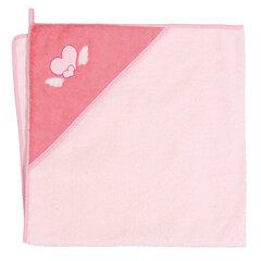 CebaBaby dvielis ar kapuci 100x100 cm,rozā - sirsniņas