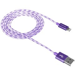 Telefona vads Canyon CNE-CFI3DG Lightning Apple USB, pīts, 1 m, violets