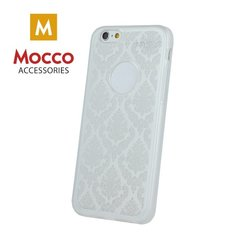 Mocco Ornament Back Case Silicone Case for Apple iPhone 7 Plus / 8 Plus White
